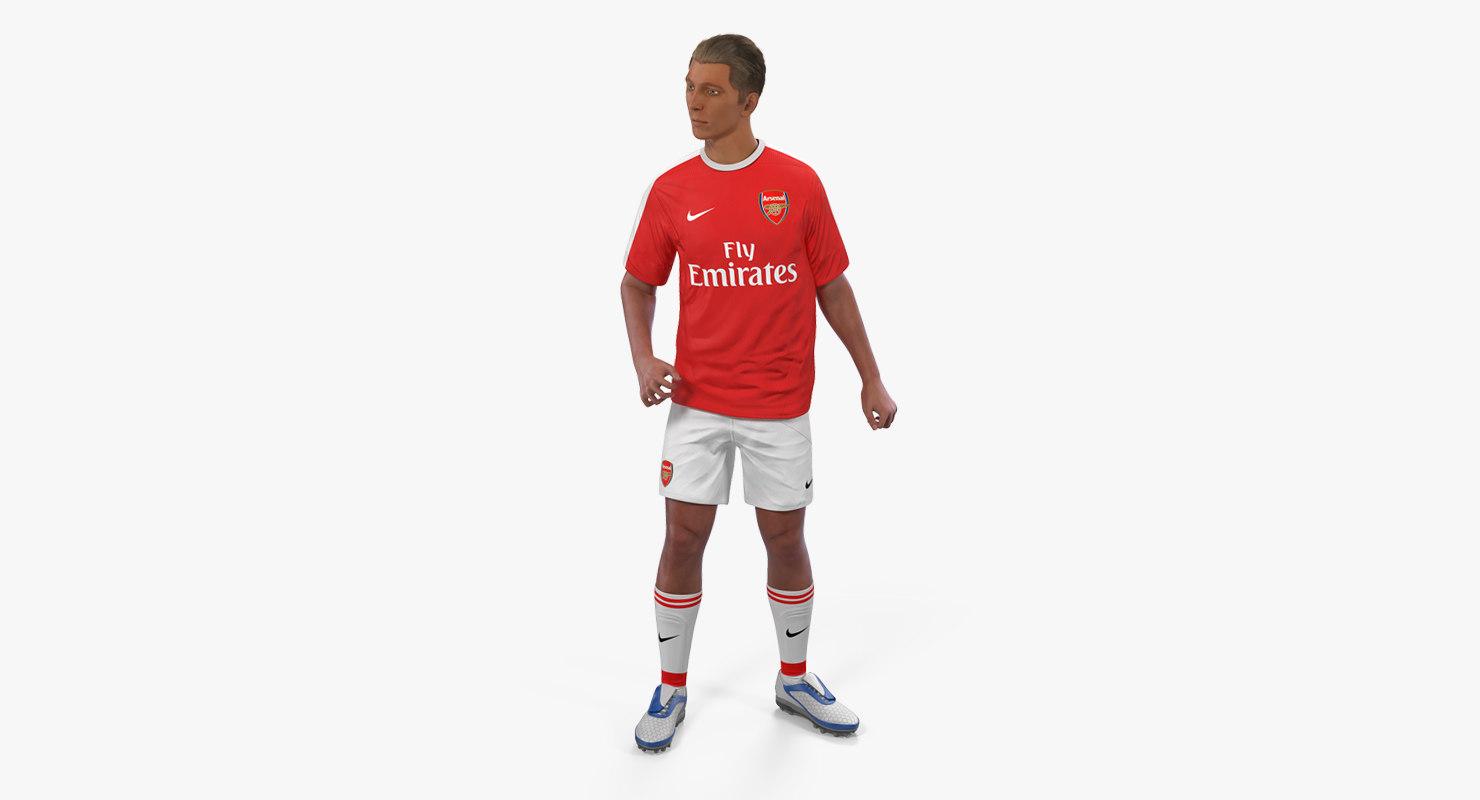 soccer football player arsenal 3D model