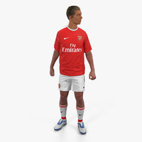 Soccer or Football Player Arsenal Rigged 2 3D Model