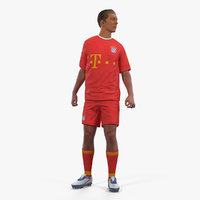 Soccer or Football Player Bayern Rigged 2 3D Model