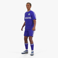 3D model soccer football player chelsea