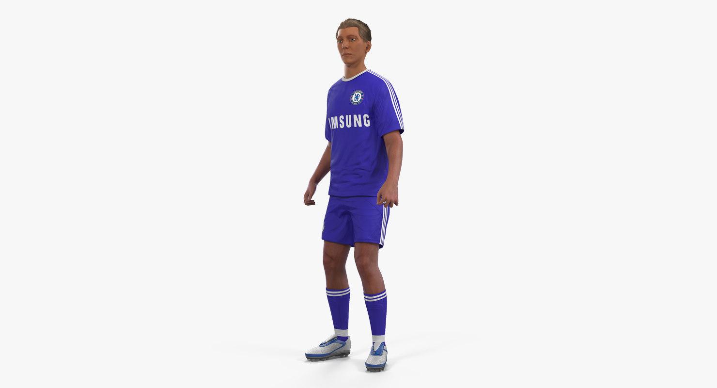 3D model soccer football player chelsea