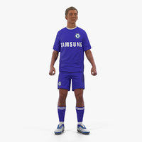 Soccer or Football Player Chelsea Rigged 2 3D Model