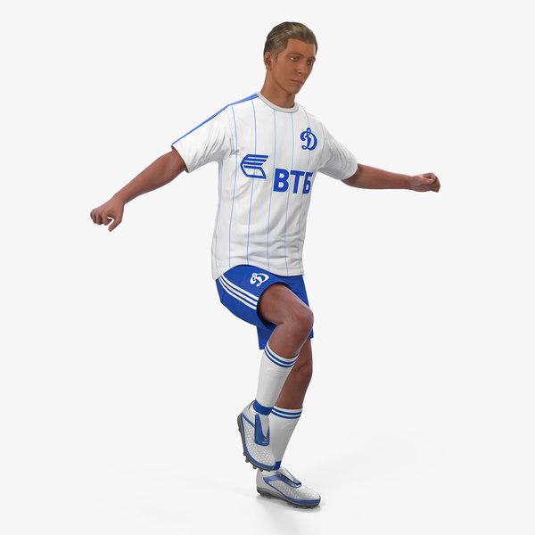 soccer football player dynamo 3D model