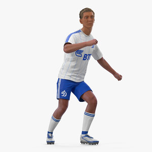 3D soccer football player dynamo model