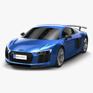 2017 audi r8 3D model