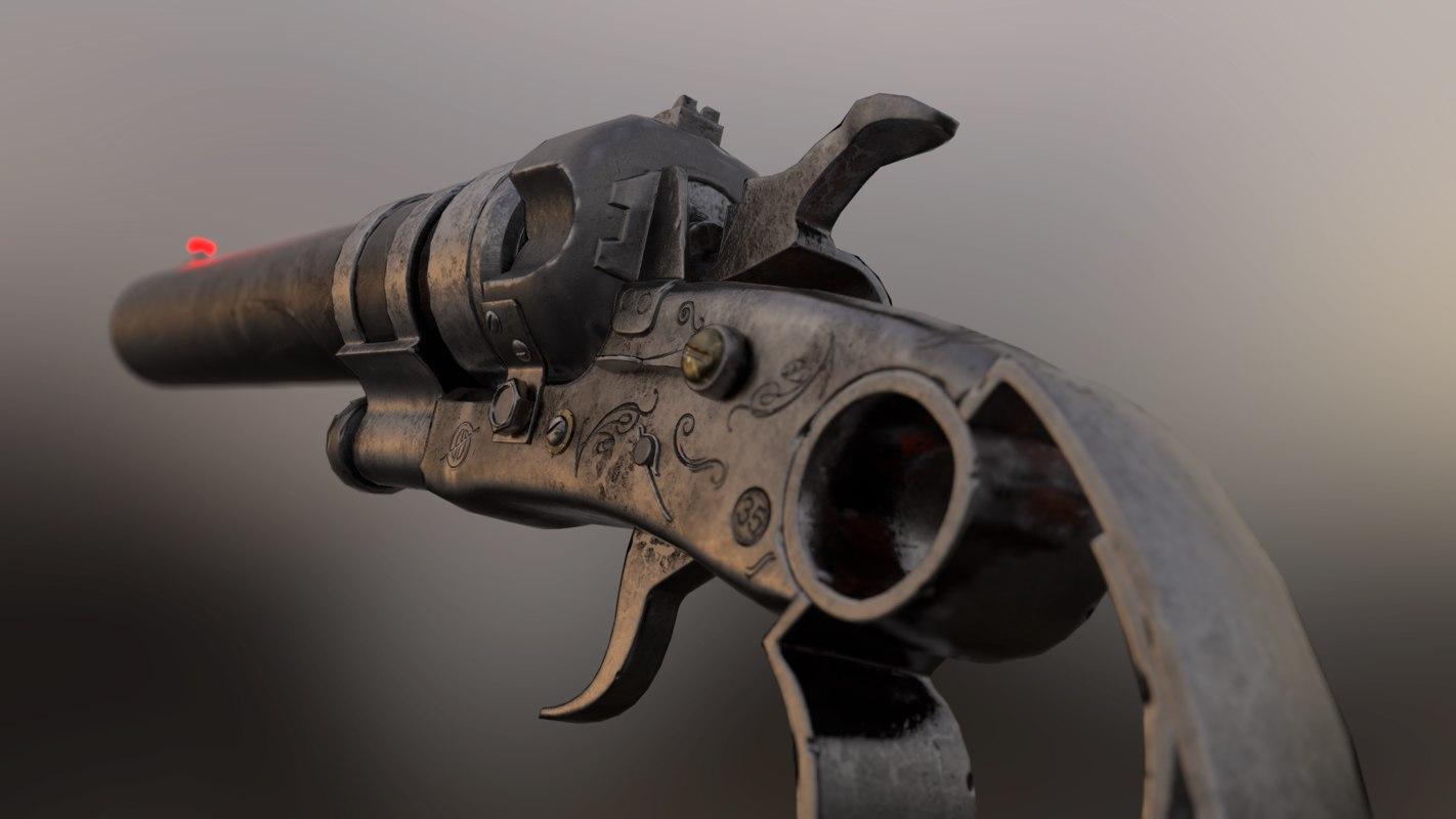 shotgun pistol 3D model