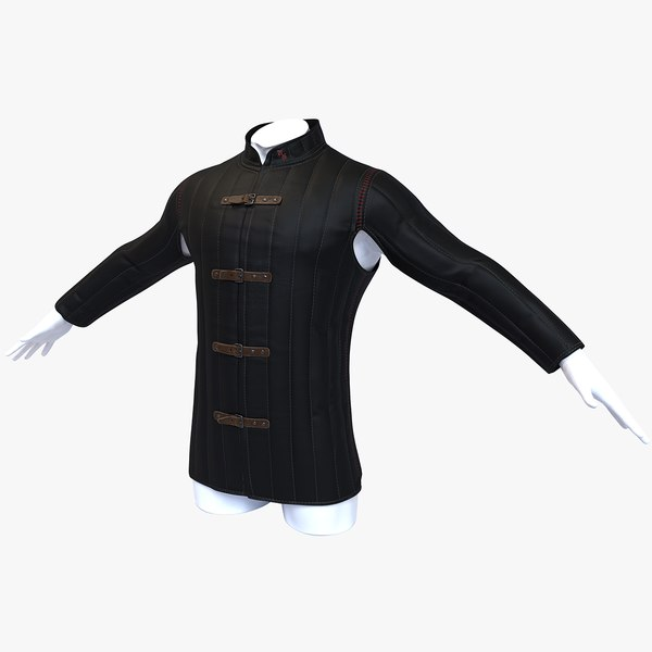 3D model gambeson medieval armour