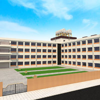 3D japanese anime school model