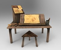 medieval drafters table 3D model