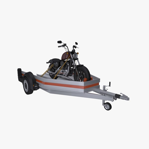 3D motorcycle carrying trailer