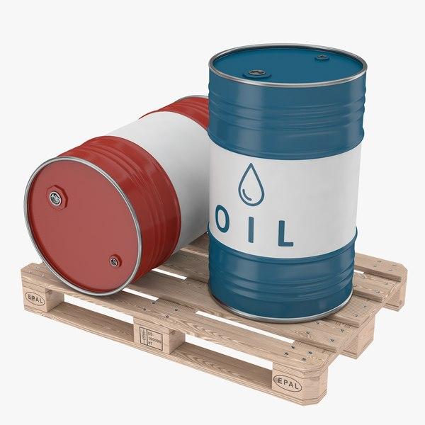 steel barrel pallet 01 model