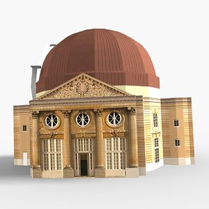 observatory scene meudon 3D model