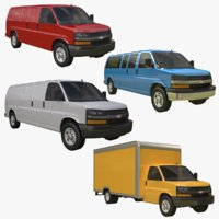 3D chevrolet express chevy model