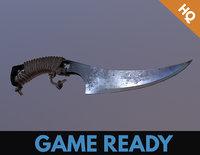 3D model ready hunter knife