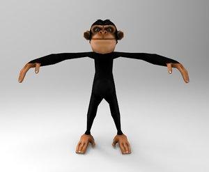 monkey cartoon toon 3D
