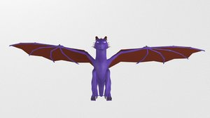 3D dragon rig uv
