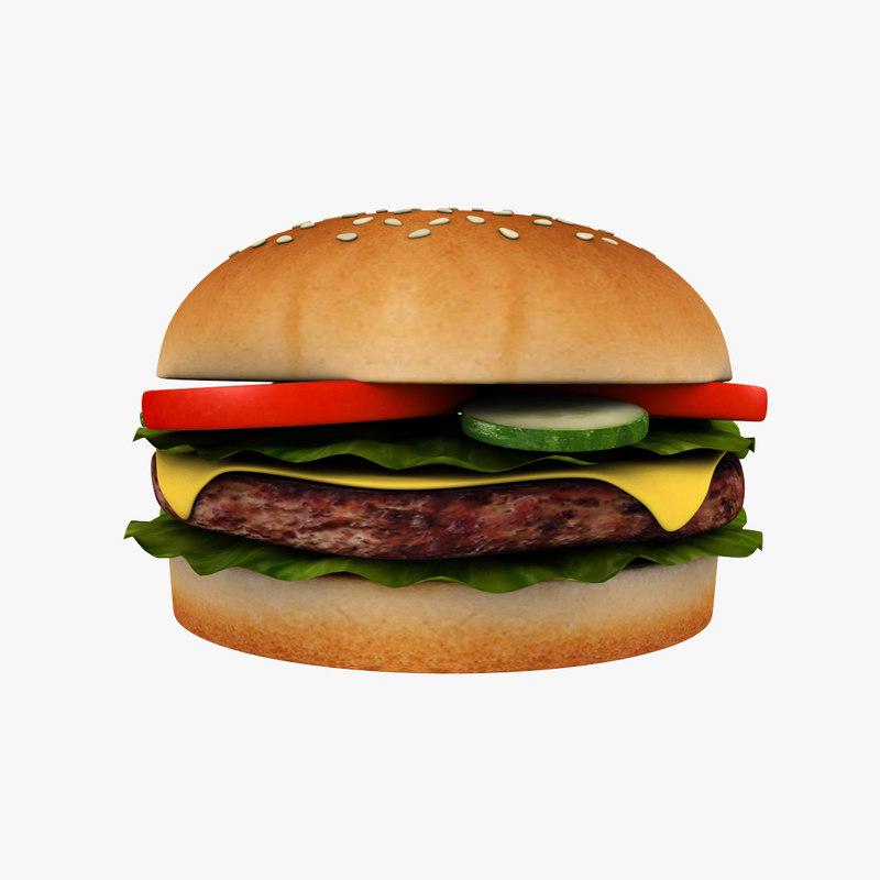 cheeseburger print buns model