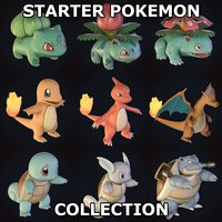 Starter Pokemon Collection (With Evolutions)