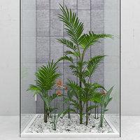 3D flowers plants set model