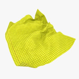 crumpled graph paper 02 3D