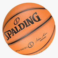 Official Game Ball  Spalding Basketball Best model 3d
