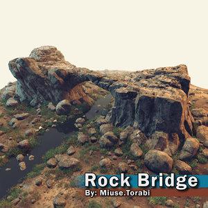 3D rock bridge
