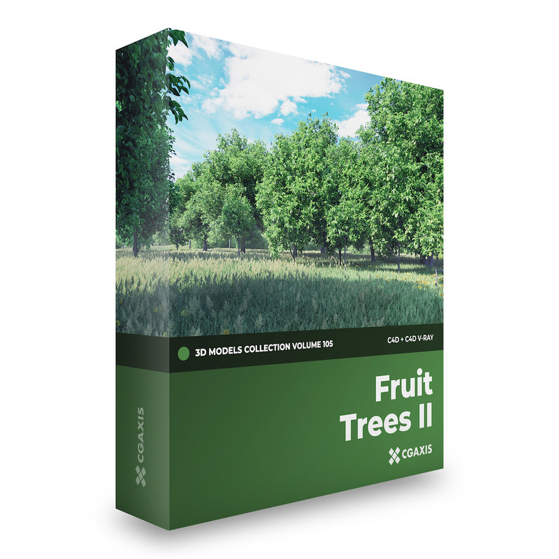 3D fruit trees volume 105 model