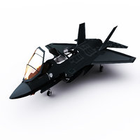 3D raptor stealth aircraft