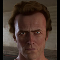 3D head clint eastwood hair model