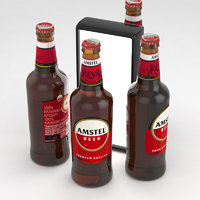 Beer Bottle Amstel Beer 500ml