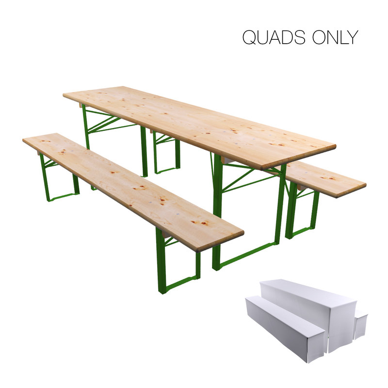 3D beer garden table bench
