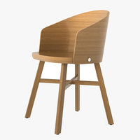 3D wooden chair wood model