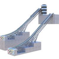 ski jump ramp 3D model