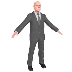 anthony hopkins 3D model