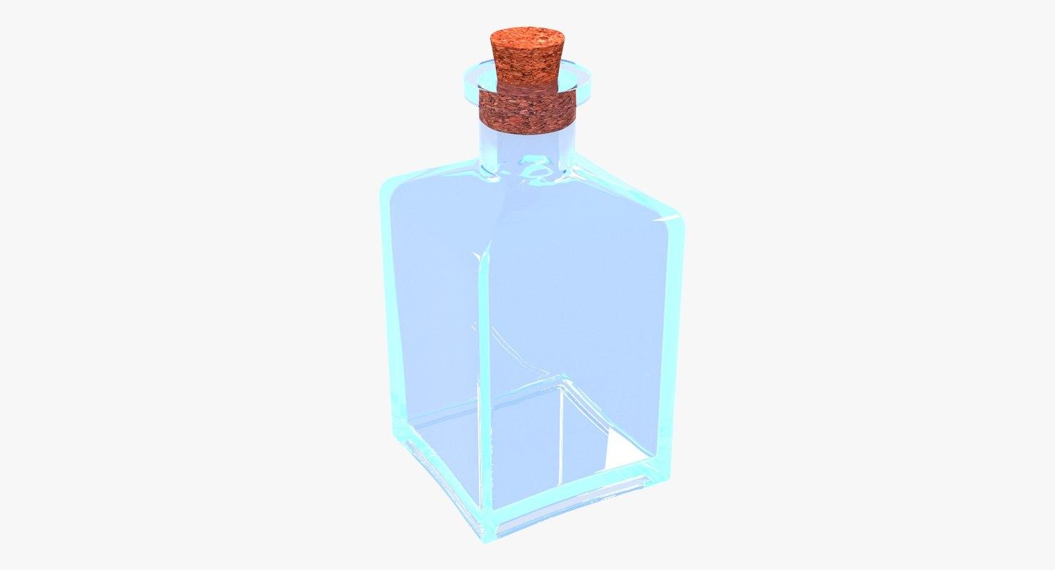 glass bottle model