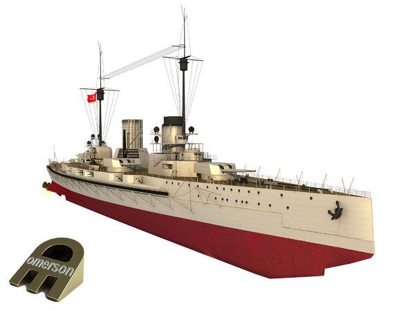 moltke class ship goeben 3D