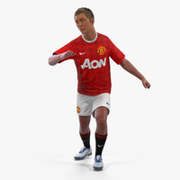 Soccer or Football Player United Rigged 2 3D Model