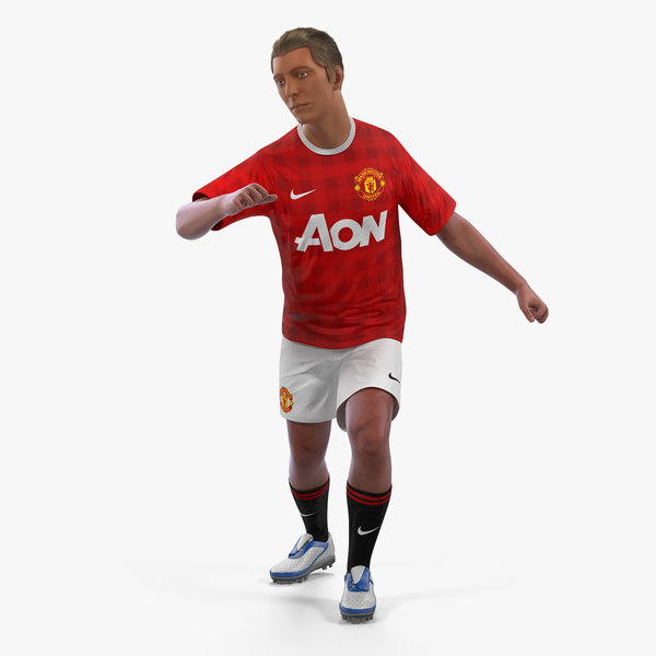 3D soccer football player united