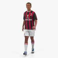 Soccer or Football Player Milan Rigged 2 3D Model