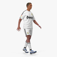 3D soccer football player real model