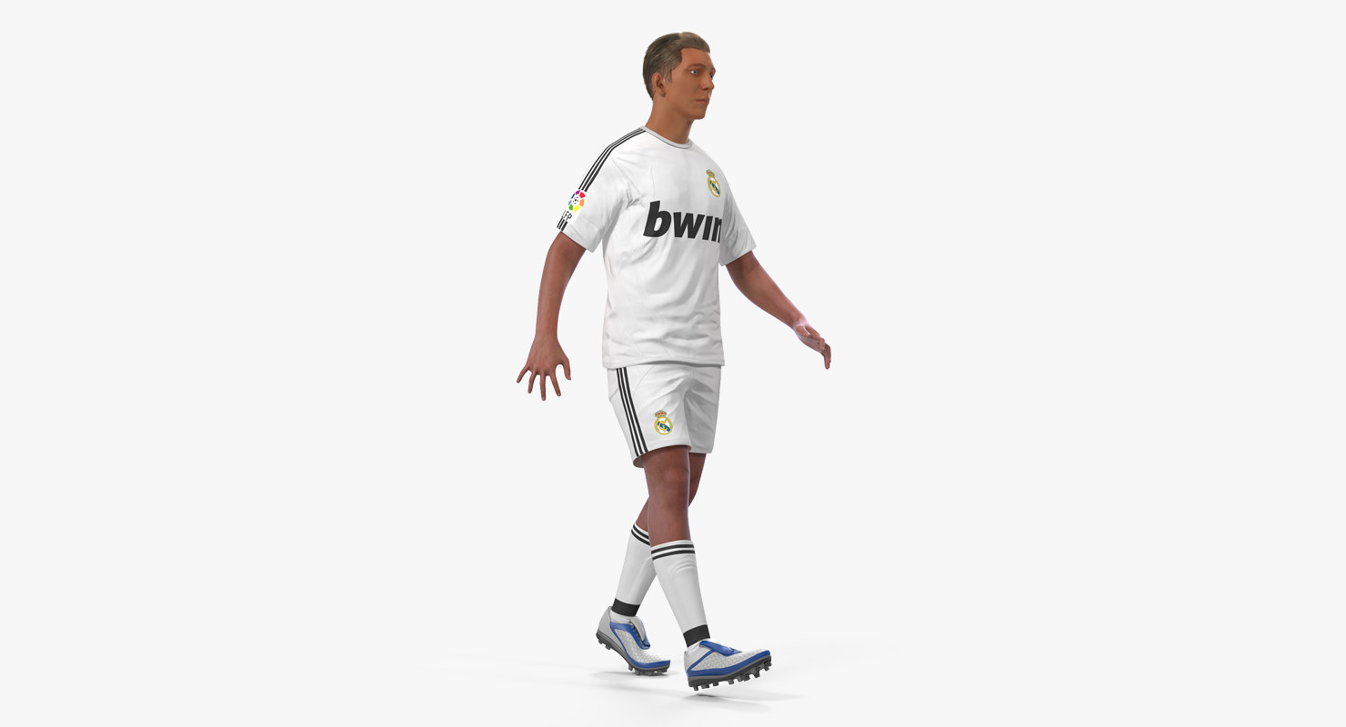 3D soccer football player real model
