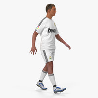 Soccer or Football Player Real Madrid Rigged 2 3D Model