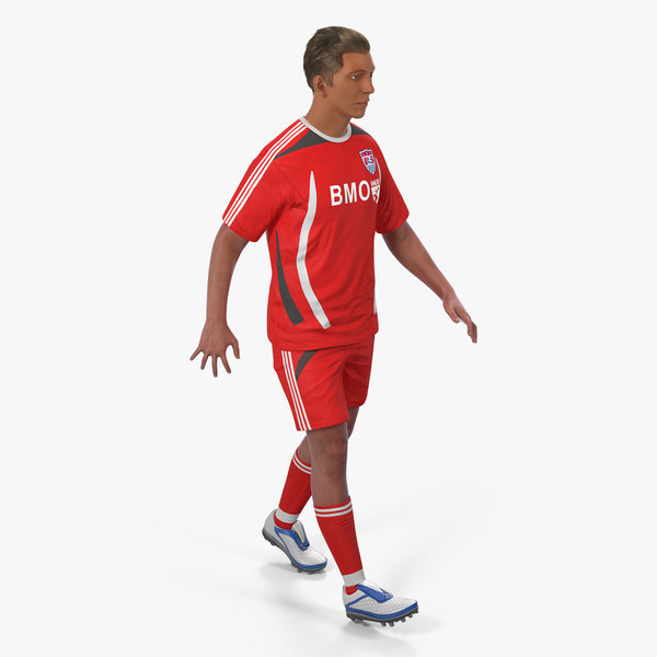 3D soccer football player rigged