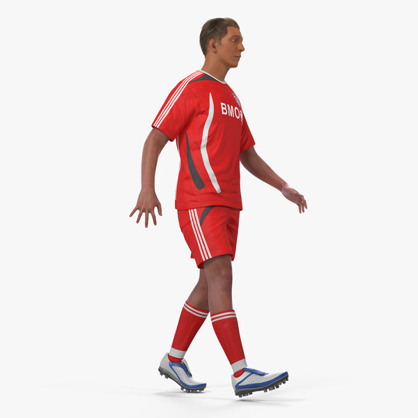 soccer football player rigged model