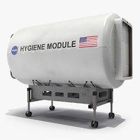 autonomous space hygiene module 3D