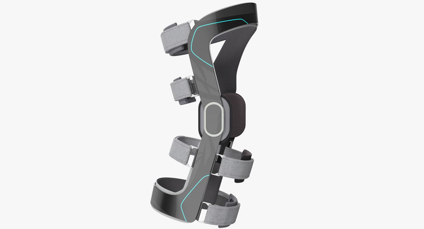 3D model knee brace generic 2