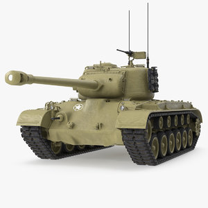 m26 heavy tank pershing 3D model