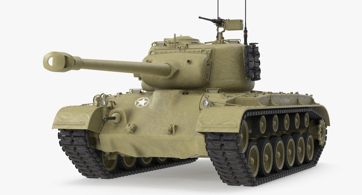 m26 heavy tank pershing 3D model