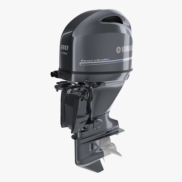 outboard boat engine yamaha 3D model