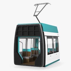 3D model tram wagon
